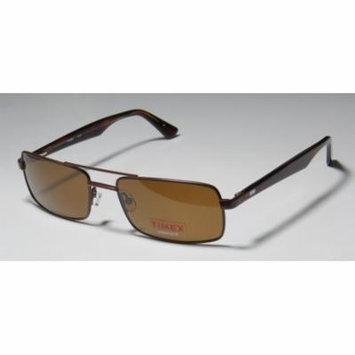 Timex T910 56-18-140 Brown Full-Rim Sunglasses