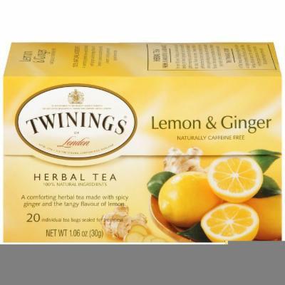 TWINING TEA LEMON & GINGER, 20 BG (Pack of 6)