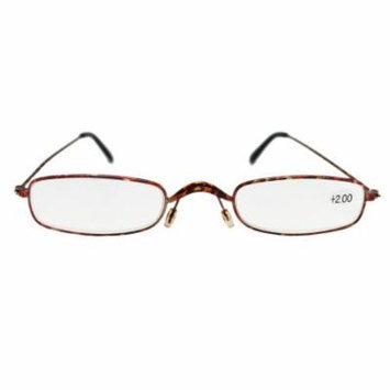 Extra Narrow Lenses With Pink Colored Frame Reading Glasses (+2.00)