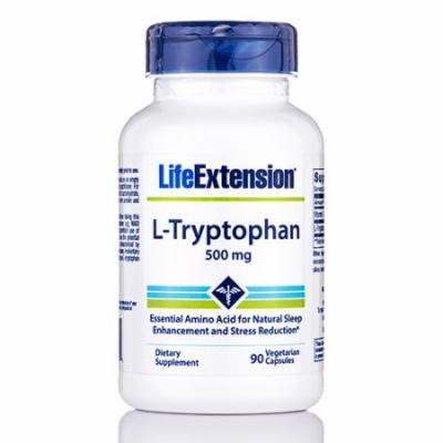 L-Tryptophan 500 mg - 90 Vegetarian Capsules by Life Extension