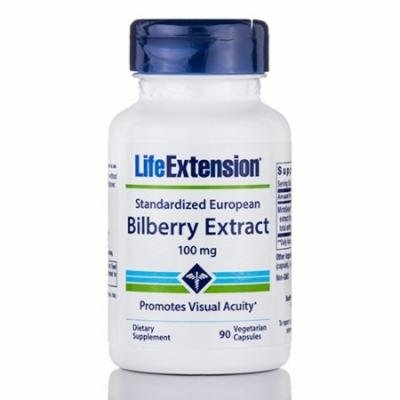 Standardized European Bilberry Extract 100 mg - 90 Vegetarian Capsules by Life E
