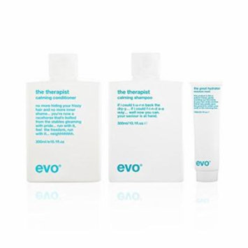 Bundle - 3 items: Evo The Therapist Calming Shampoo & Conditioner Duo, 10.1 Oz & The Great Hydrator Moisture Mask, 5.1 Oz