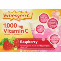 2 Pack Emergen C 1000 mg Vitamin C Flavored Fizzy Drink 30 Pack Raspberry 30 Ea