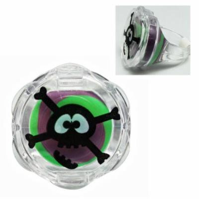 Grape Scented/Flavored Plastic Skull Ring Lip Gloss - By Ganz