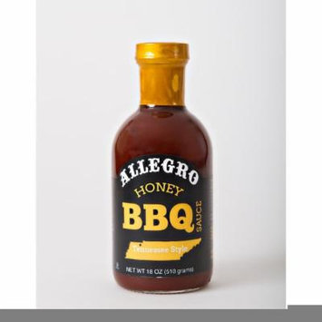 ALLEGRO SAUCE HONEY BBQ, 18 OZ (Pack of 6)