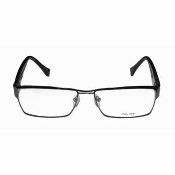 Police V8713 58-15-140 Gunmetal / Dark Tortoise Full-Rim Eyeglasses Frame