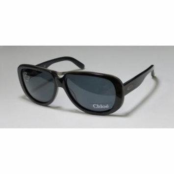 Chloe 2139 0-0-135 Black / Brushed Silver Full-Rim Sunglasses