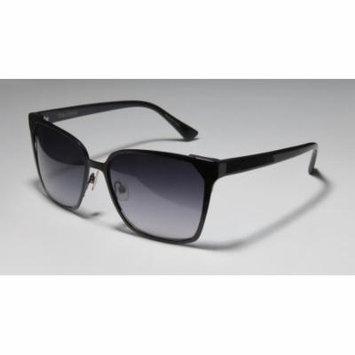 Vera Wang Petaline 57-17-135 Black Full-Rim Sunglasses