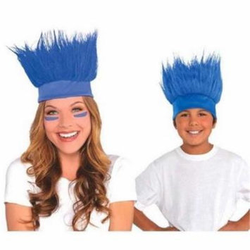 Amscan 395912. 22 Head Band Crazy Hair, Marine Blue - Pack of 6