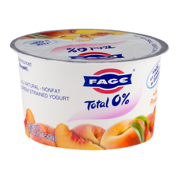 Fage Total 0% Nonfat Greek Strained Yogurt With Peach