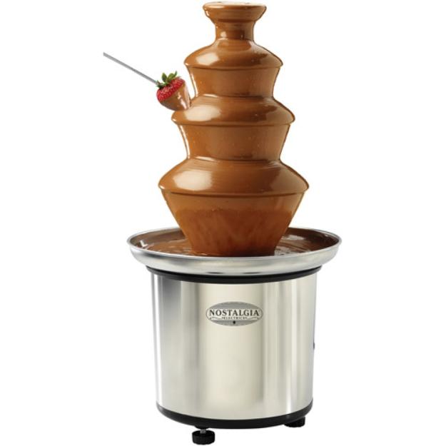 Nostalgia Electrics CFF-986 3-Tier Stainless Steel Chocolate Fondue Fountain
