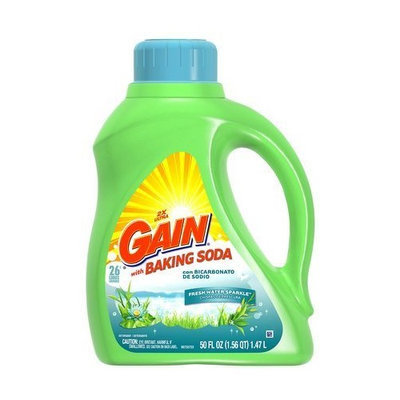 Gain Liquid Detergent, with Baking Soda, Fresh Water Sparkle, 26 Loads 50 fl oz (1.47 L)