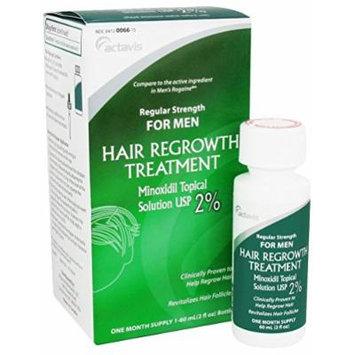 Actavis Men's Minoxidil 2% Regular Strength Hair Regrowth Treatment Solution, 2 Fluid Ounce