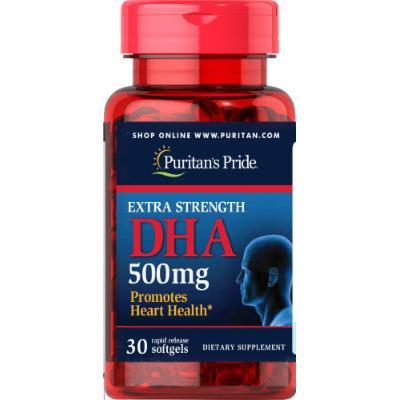 Puritan's Pride Extra Strength DHA 500 mg-30 Softgels