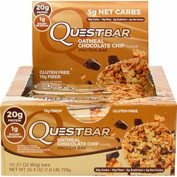 Quest Nutrition Quest Protein Bar Oatmeal Chocolate Chip-12 Bars