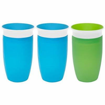 Munchkin Miracle 360 Degree 10 Ounce Spoutless Cup, 3 Pack, Blue/Blue/Green