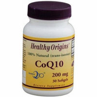 Healthy Origins CoQ10, Kaneka Q10, 100% Natural, 200mg, 30 CT