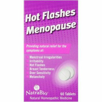 Natra Bio Hot Flashes/Menopause, 60 CT