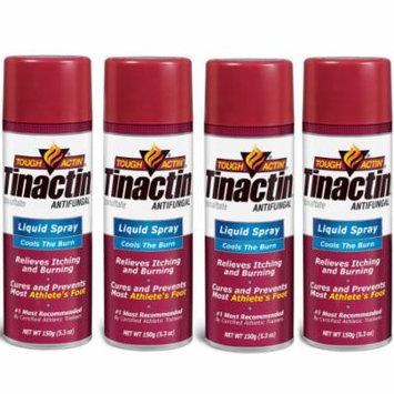 Tinactin Athlete's Foot Liquid Spray Antifungal - 5.3 oz (Pack of 4)