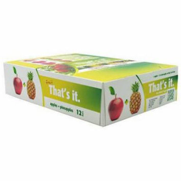 That's It Fruit Apples + Pineapples Bars, 12 count