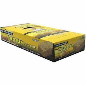 Chef Jay's Tri-O-Plex Banana Walnut High Protein Food Bars, 4.2 oz, 12 count