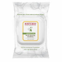 8 Pack Burt's Bees Cotton Extract Sensitive Facial Cleansing Towelettes 30 count