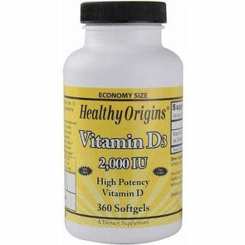 Healthy Origins Vitamin D3 Softgel Capsules, 360 CT