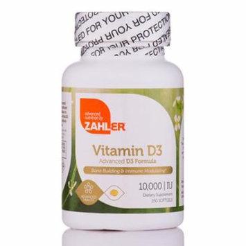 Vitamin D3 10000 IU - 250 Softgels by Zahler
