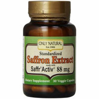 Only Natural Saffron Extract Caplets, 30 CT