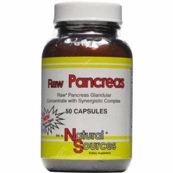 Natural Sources Raw Pancreas, 50 CT