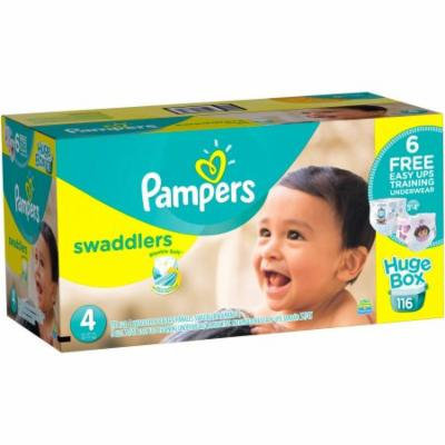 Pampers Swaddlers Diapers, Size 4, 116 Count (Bonus Box)