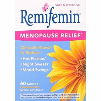 3 Pack - Remifemin Enzymatic Therapy Menopause Relief 60 Tablets Each