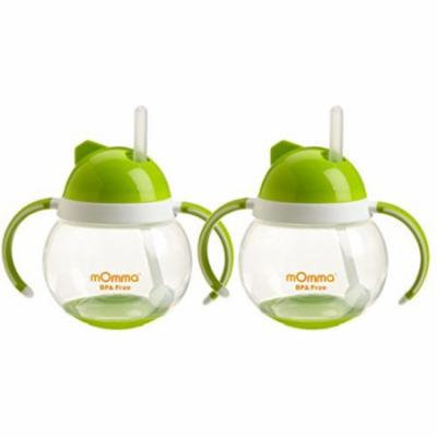 Lansinoh mOmma Straw Cup with Dual Handles, Green, 2 Count