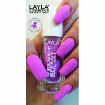 Layla Velvet Effect Nail Art, #5 Almond Flower