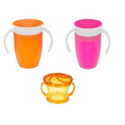 Munchkin Miracle 360 7 ounce Spoutless Cups with 5ounce Deluxe Snack Catcher