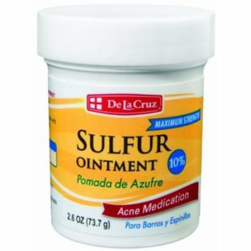 3 Pack Pomada De Azufre Sulfur Ointment 2.6 Oz Acne Cream De La Cruz