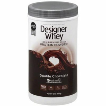 Designer Whey Protein Powder, Double Chocolate, 2 LB