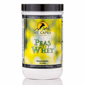Peas and Whey�, Natural Vanilla Flavor - 1 lb (453 Grams) by Mt. Capra
