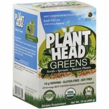 Genceutic Naturals Organic Plant Head, Greens, 10 OZ