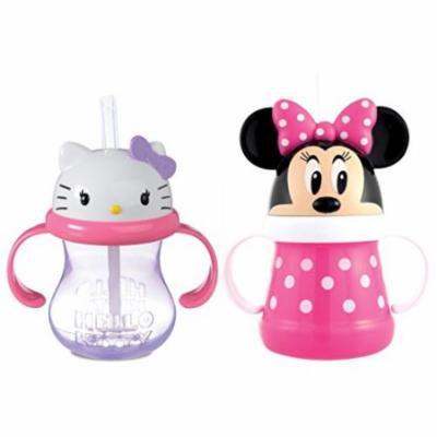 Munchkin Hello Kitty Straw Cup + Disney Minnie Straw Cup