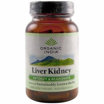 Organic India Liver Kidney Formula, Caplets, 90 CT