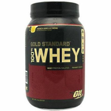 Optimum Nutrition 100% Whey, French Vanilla Creme, 2 LB