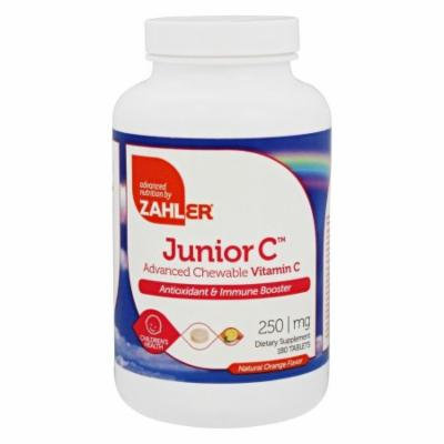 Zahler - Junior Vitamin C Natural Orange Flavor 250 mg. - 180 Chewable Tablets