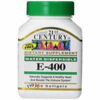 4 Pack 21st Century E-400 Softgels 110 Soft Gels Each