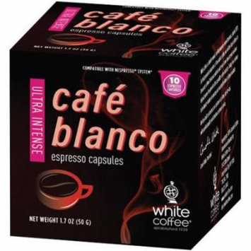 White Coffee Cafe Blanco Ultra Intense Espresso Capsules, 10 count, 1.7 oz