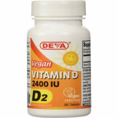 Deva Vitamin D2, 2400iu, Vegan, 90 CT