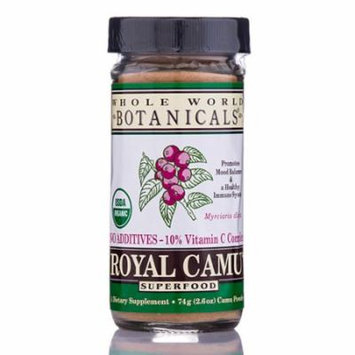 Royal Camu Whole Fruit Dark Powder - 2.6 oz (74 Grams) by Whole World Botanicals