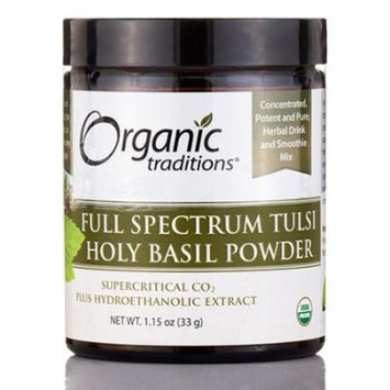Full Spectrum Tulsi Holy Basil Powder - 1.15 oz (33 Grams) by Organic Traditions