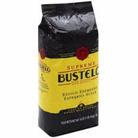 Supreme by Bustelo Espresso Style Whole Bean Coffee, 16 oz, (Pack of 8)
