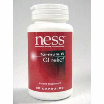 Ness Enzymes, GI Relief #6 90 caps